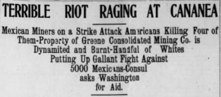 Cananea Copper Strike, Arizona Dly Star, June 2, 1906.png