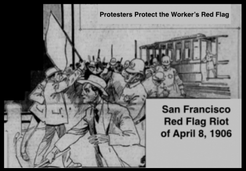 Protestors Protect Worker's Red Flag, SF Call, Apr 9, 1906.png