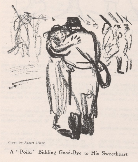 Robert Minor, Paris WWI, The Masses, March 1916.png