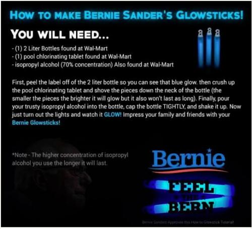 This Is Evil The Quot Bernie Glow Sticks Quot That Create A