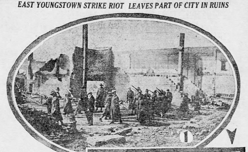 Youngstown Steel Strike, Ruins, The Decatur Herald, IL, Jan 12, 1916.png