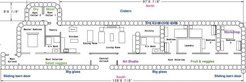 4 Bedroom Earthship Plans