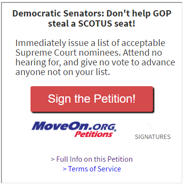petition link (MoveOn.org)