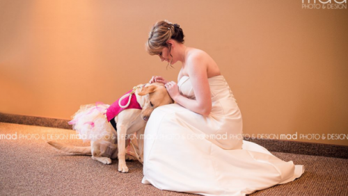 screen-shot-2016-01-15-at-5-08-06-pm--Bride With Service Dog--Valerie Parrott shares a sweet moment with her service dog, Bella. MAD PHOTO AND DESIGN_0.png